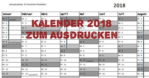 Kalender 2018 Druckversion Kalender 2018 Zum Ausdrucken Freeware De