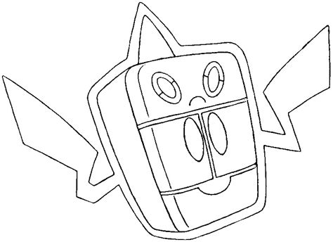 pokemon coloring pages rotom dibujo para colorear pokemon formas alternativas pok 233 mon