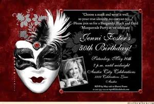 dramatic mask birthday invitation masquerade ball lovely