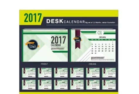 best desk calendar 2017 company 2017 desk calendar design vector template 08