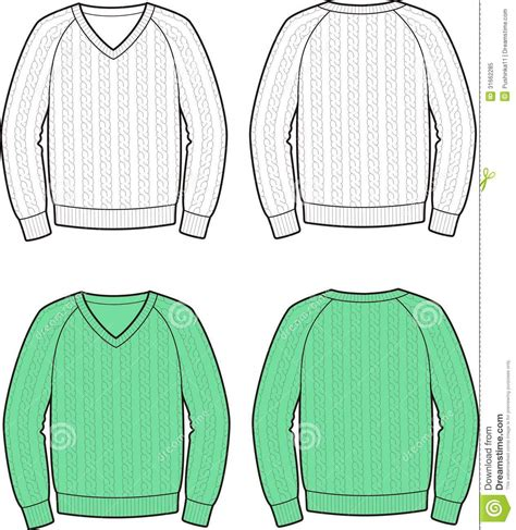 jumper pattern vector jumper stock vector image of fashionable collection