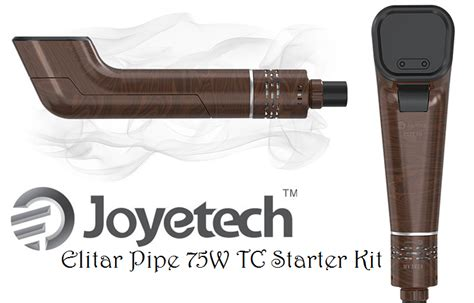 Joyetech Elitar Pipe 75w Starter Kit Vaporizer Authentic joyetech elitar pipe 75w tc starter kit review spinfuel vape