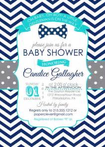 baby shower invite boy baby shower invitations aqua blue navy boys bow tie with