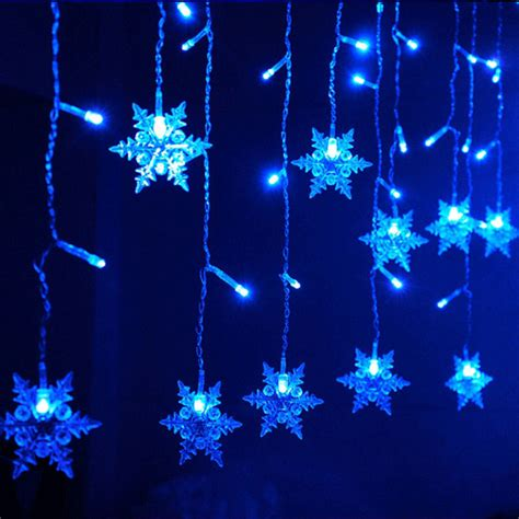 hot xtmas led snowflake tree hanging curtain fairy light