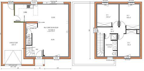 plan maison 3 chambre amazing simple battement plan maison images about plans