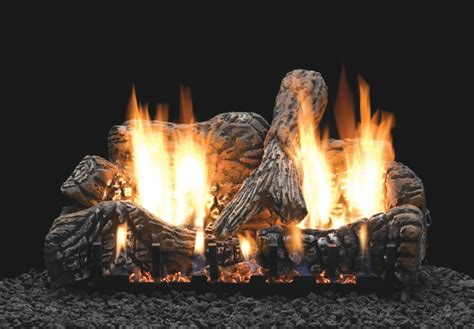 Ventless Gas Logs Empire 24 Quot Charred Oak Ceramic Fiber Ventless Propane Gas