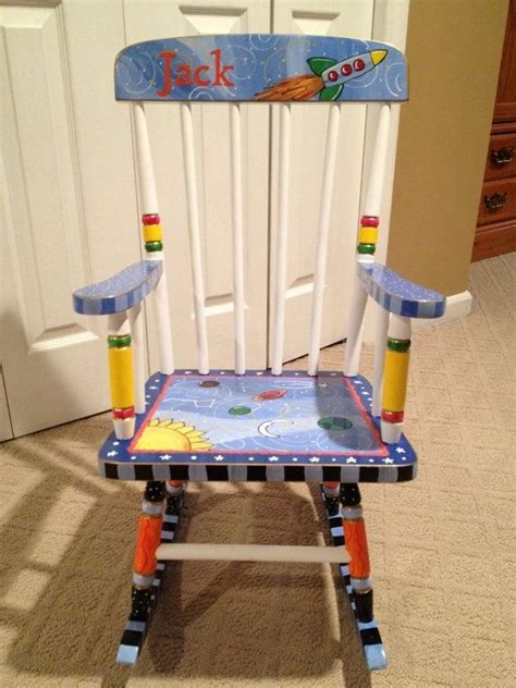 Painted Childrens Chairs by Made Custom Painted Child S Rocking Chair Youth