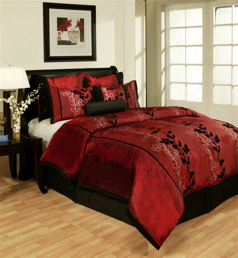 maroon bedspreads comforters create a romantic feeling in bedroom with comforters black
