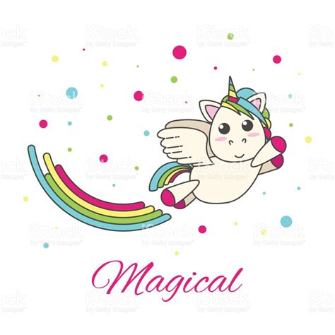 imagenes de unicornios volando unicornio volando con un arco iris y estrellas sobre un