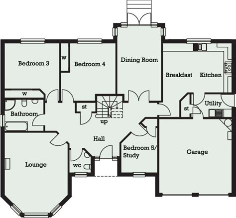 5 bedroom floor plans 1 5 bedroom bungalow in 5 bedroom bungalow floor plans