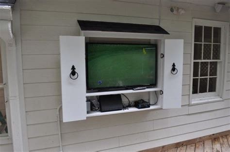 outdoor tv wall mount cabinet 9 best images about outdoor tv ideas on tv