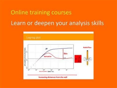 online tutorial lectures online training courses in well test analysis testwells