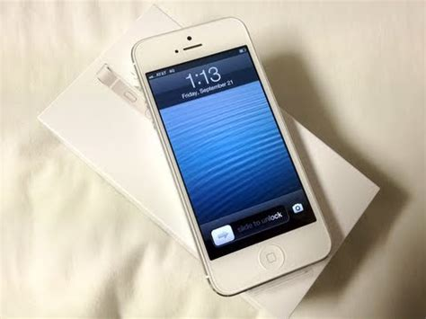 iphone at t apple iphone 5 32gb white unboxing at t