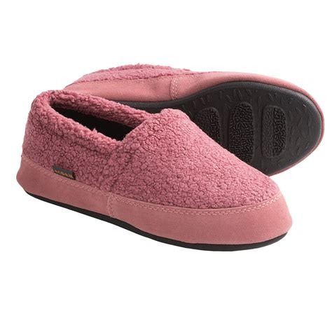 acorn womens slippers sale acorn berber tex moccasin slippers for save 35