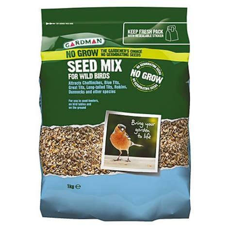gardman no grow seed mix for wild birds 1kg bosworths