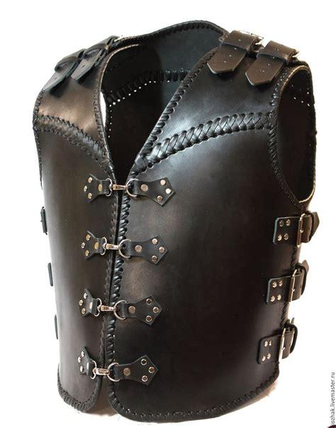 Handmade Vests - motorcycle heavy leather vest shop on livemaster