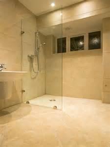 wetroom style zero threshold shower housing corners