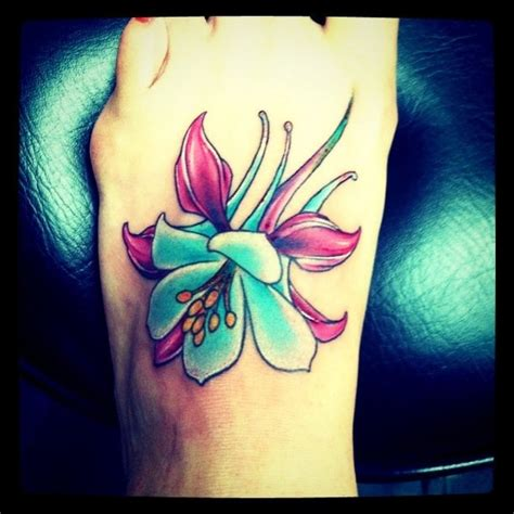black lotus tattoo arizona columbine flower tattoos