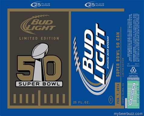 bud light superbowl cans bud light bowl 50 ny giants 86 chs 49ers 81