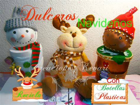 dulceros navidenos mu 241 eco de nieve dulcero con botellas pet dulcero navide 241 o