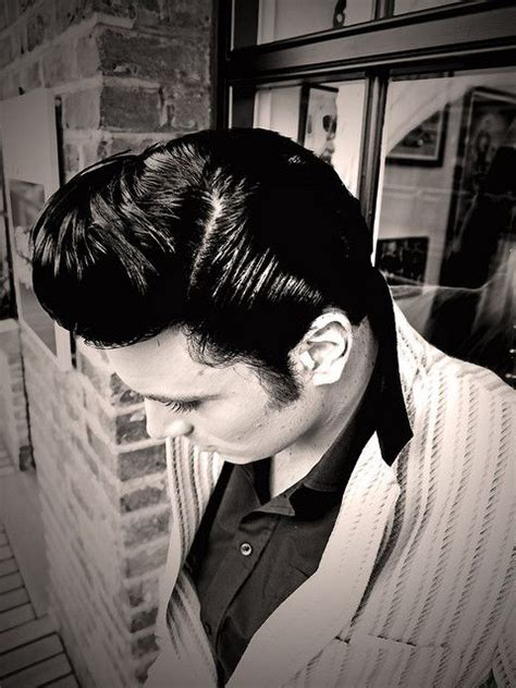 ducktail haircut women grease hair greasers pinterest