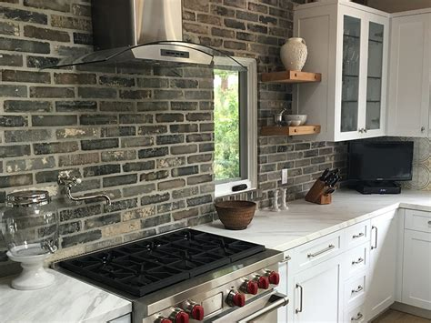 veneer kitchen backsplash brick veneer backsplash parksandpool org