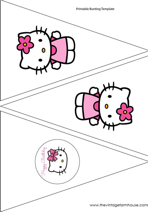 the vintage farmhouse hello kitty party free printables
