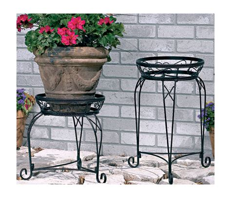 Patio Plant Stand by Cobraco 30 Inch Black Basic Plant Stand S1030