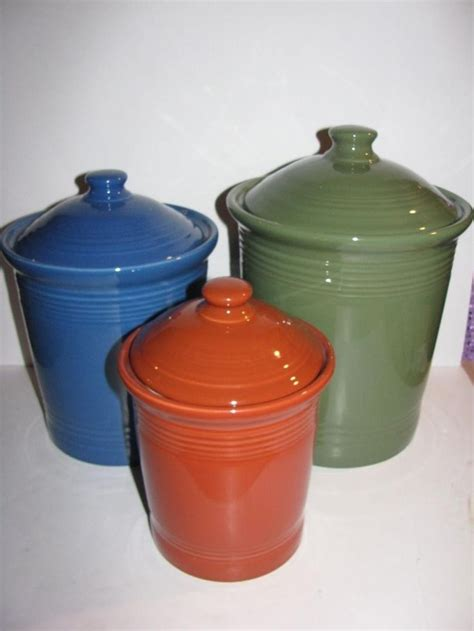 fiesta kitchen canisters 199 best fiesta 174 homer laughlin china canisters jam