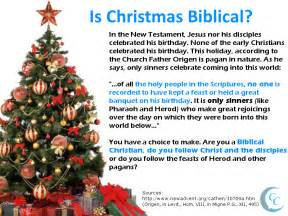 is christmas biblical calling christians