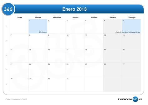 Calendario Enero Calendario Enero 2013