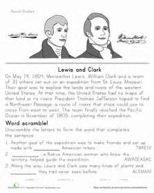 free printable lesson plans on lewis and clark worksheets education com