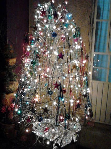 193 rbol seco pintado y decorado para navidad creativo y