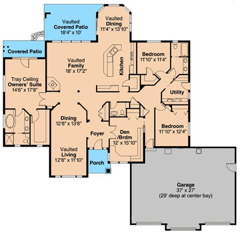 House Plans With Walk In Pantry by Harmonious Ranch Home Plan 72677da 1st Floor Master