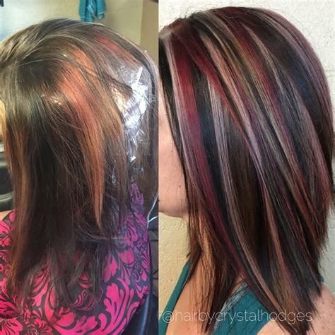 chunking highlights dark hair pictures the 25 best hair foils ideas on pinterest blonde foils