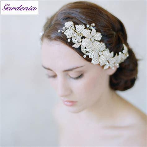 Vintage Wedding Hair Jewelry by 2015 Bridal Headwear Rhinestone Beaded Headband Wedding