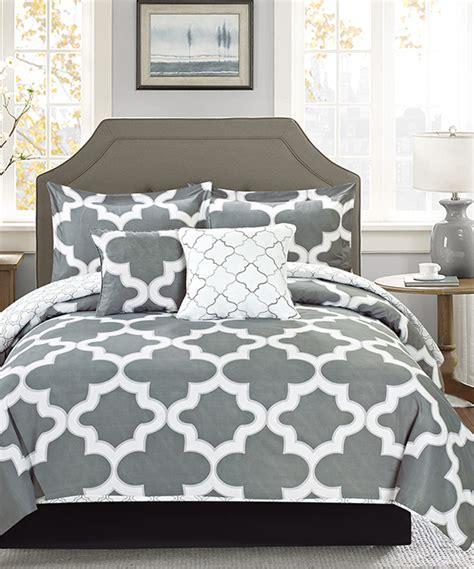 zulily bedding gray fairfax five piece reversible comforter set zulily