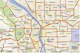 portland on map of oregon portland neighborhood map