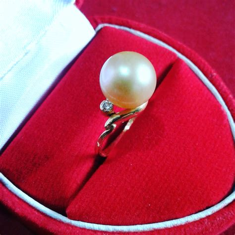 Cincin Handmade - handmade gold ring with south sea pearl cez 45 info