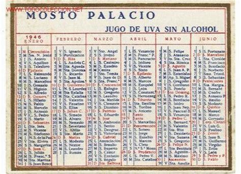 Calendario De 1946 Calendario Espa 241 Ol De Mosto Palacio A 241 O 1946 Comprar