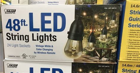 feit electric string lights costco feit electric 48ft led string lights costco weekender