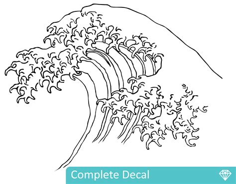 Full Wall Mural Decals the great wave off kanagawa your decal shop nz