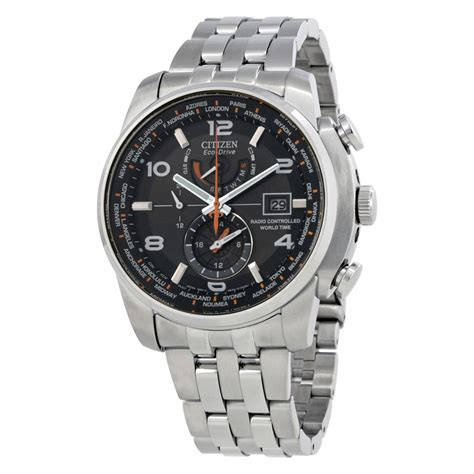 citizen eco drive stainless steel mens at9010 52e ebay