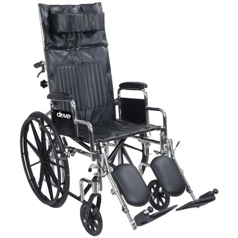 drive chrome sport reclining wheelchair with