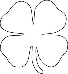 Four Leaf Clover Outline Clip by Quatre Clipart De Vecteur De Clover Leaf Clip Arts