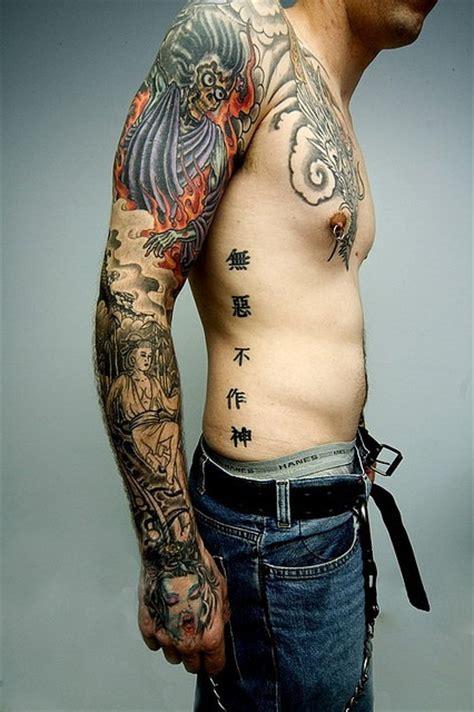 japanese tattoo on arm full arm japanese tattoo design tattooshunt com
