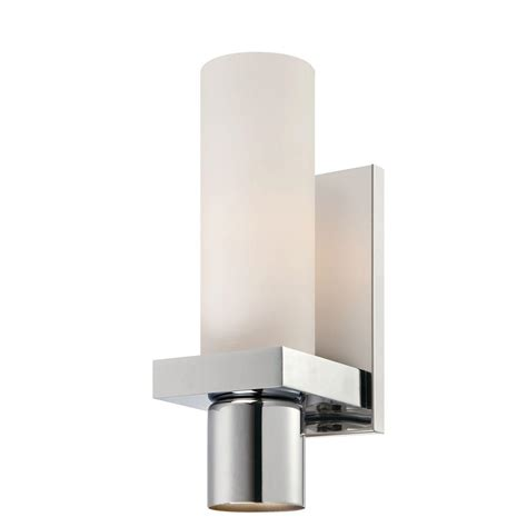 Chrome Wall Sconce Wave Collection 1 Light Chrome Wall Sconce 25727 012 The Home Depot