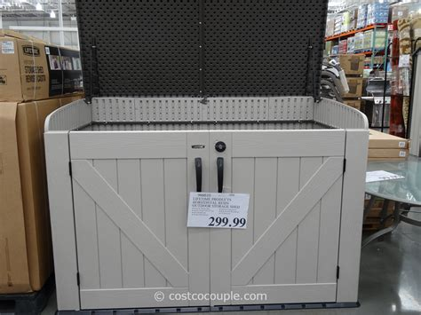 costco outdoor storage cabinet storage sheds costco canada picture pixelmari com
