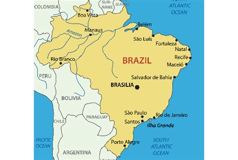 political map brazil brazil map blank political brazil map with cities