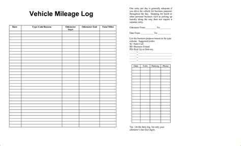 6 vehicle mileage log teknoswitch